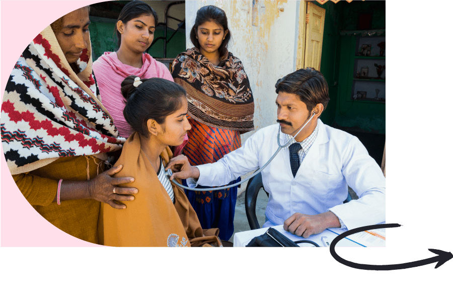 doctor listening to the heartbeat of a patient with a stethoscope