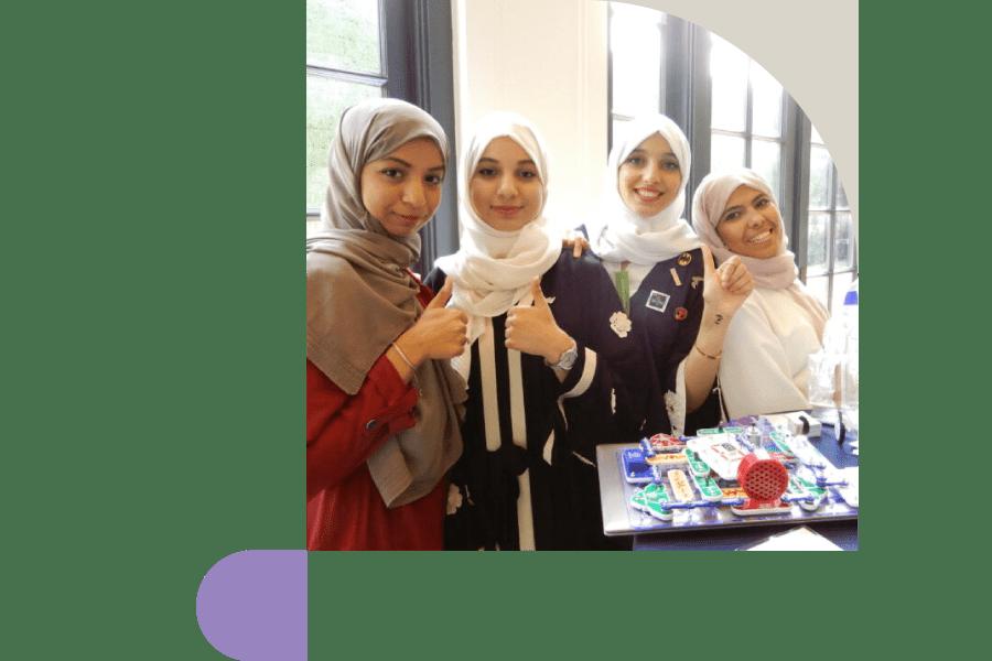 Halcyon international program showcasing an all-female cohort from Saudi Arabia