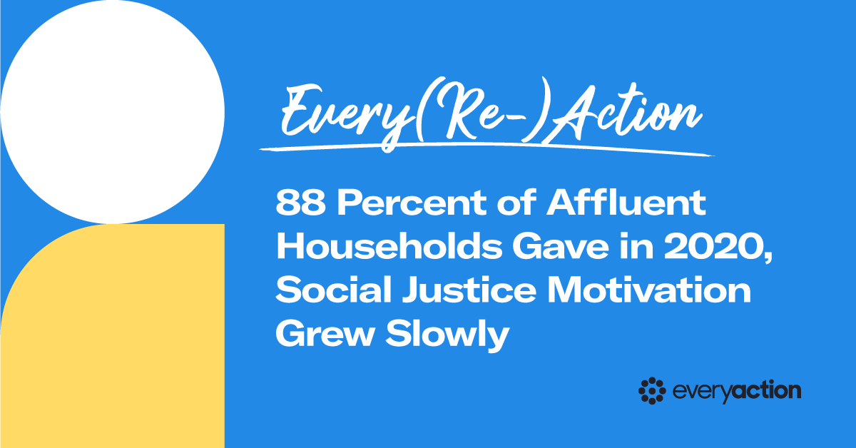 Ever(Re)Action: 88 Percent of Affluent Households Gave in 2020, Social Justice Motivation Grew Slowly